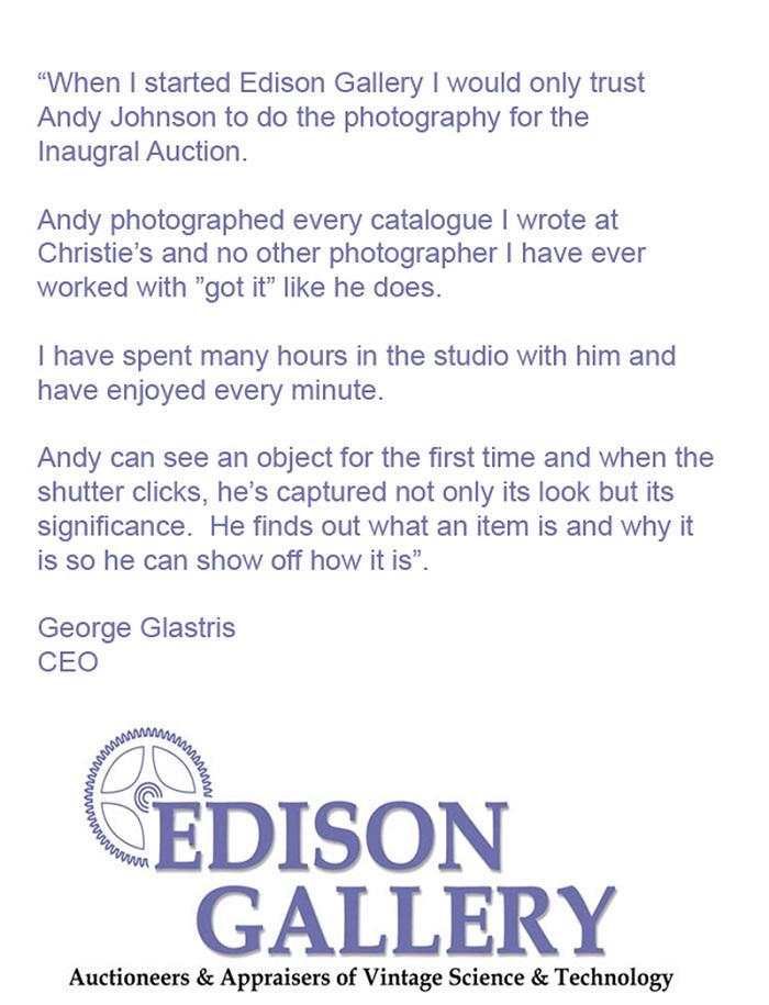 EDISON GALLERY TESTIMONIAL