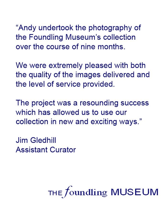 FOUNDLING MUSEUM TESTIMONIAL