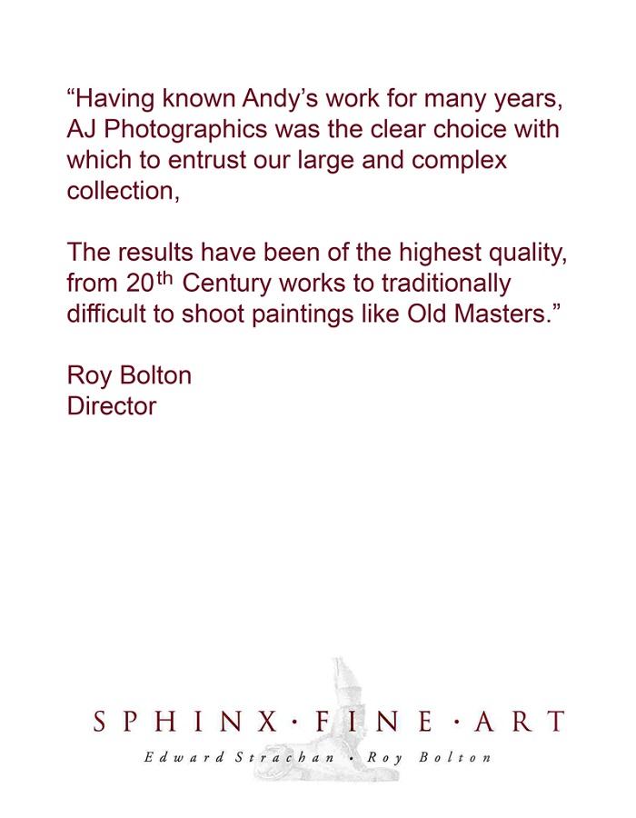 SPHINX FINE ART GALLERY TESTIMONIAL